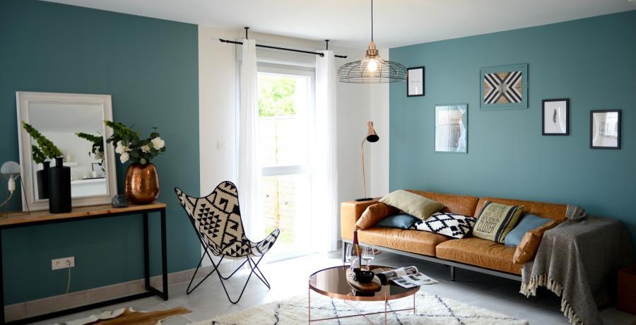 Programme immobilier neuf à Flagey-Echézeaux : les Carrés d'Echézeaux, duplex-jardin salon