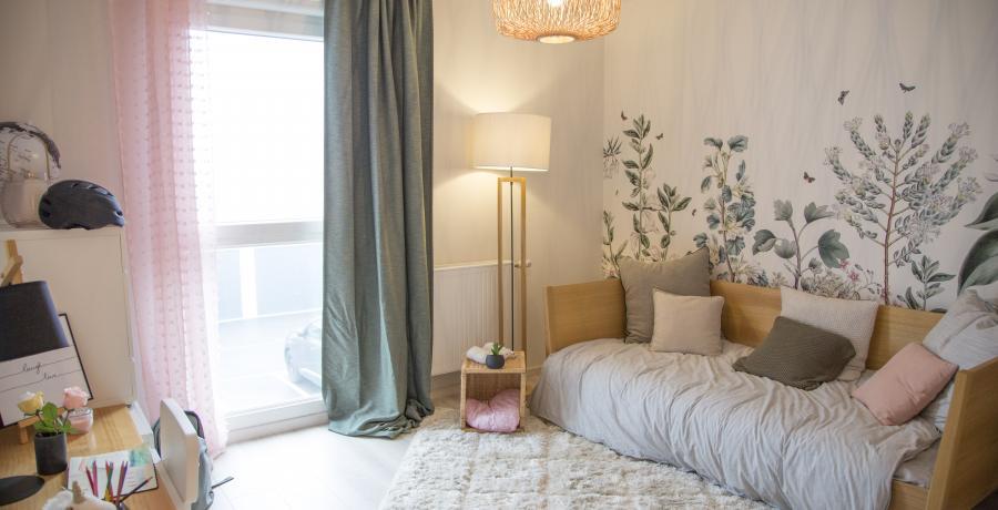 Programme immobilier neuf à Huttenheim : Les Carrés H, duplex-jardin chambre d'enfant