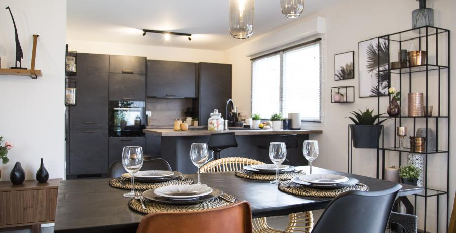 Programme immobilier neuf à Huttenheim : Les Carrés H, duplex-jardin salle à manger