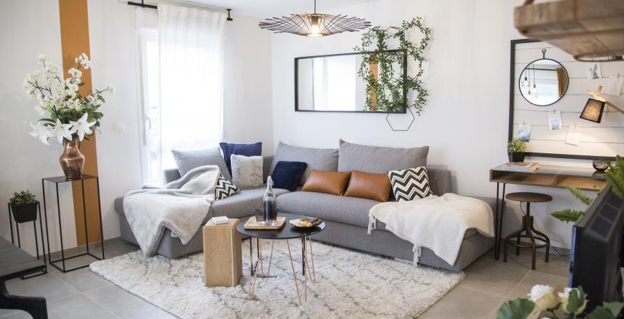 Programme immobilier neuf à Huttenheim : Les Carrés H, duplex-jardin salon