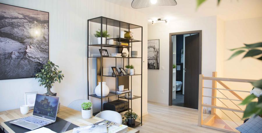 programme immobilier neuf à blaesheim : les Carrés Sépia, duplex-jardin mezzanine