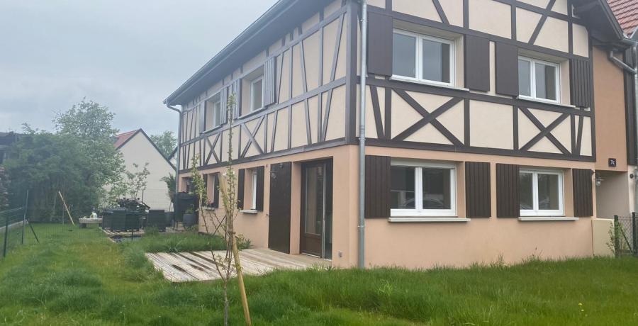 programme immobilier neuf à Ebersmunster : les Carrés Tradition, duplex-jardin jardin