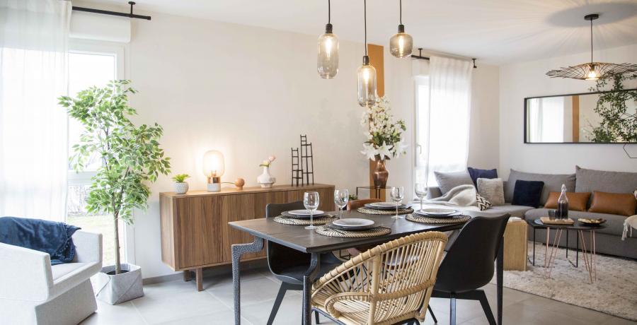 programme neuf immobilier à Wasselonne : Les Carrés Épona, duplex-jardin salon