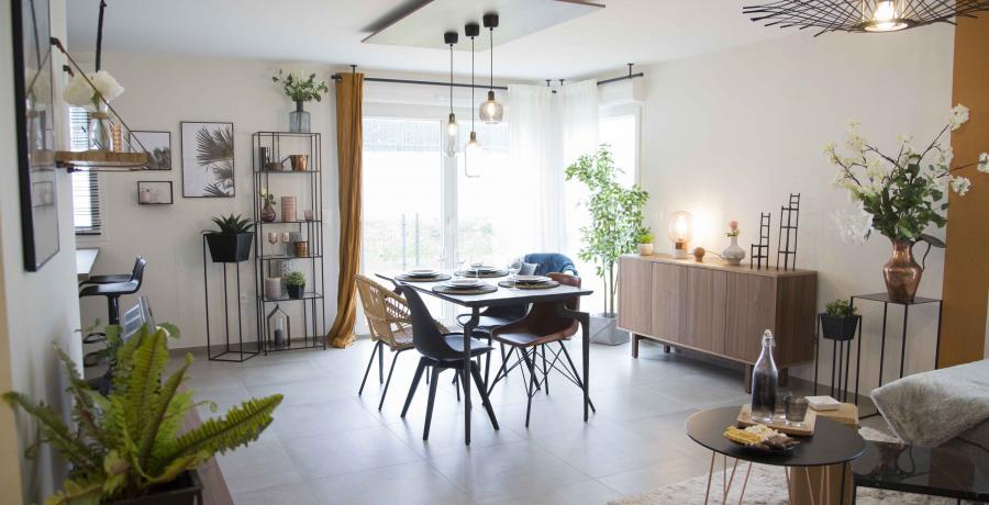 programme immobilier neuf à Matzenheim : Les Carrés Ginkgo, duplex-jardin salle à manger