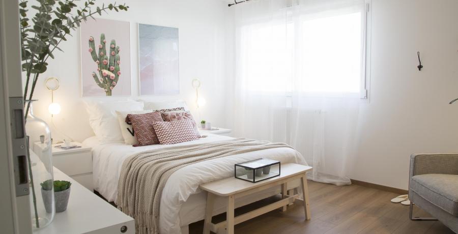 Programme immobilier neuf à Danjoutin : les Carrés Poètes, duplex-jardin chambre parentale