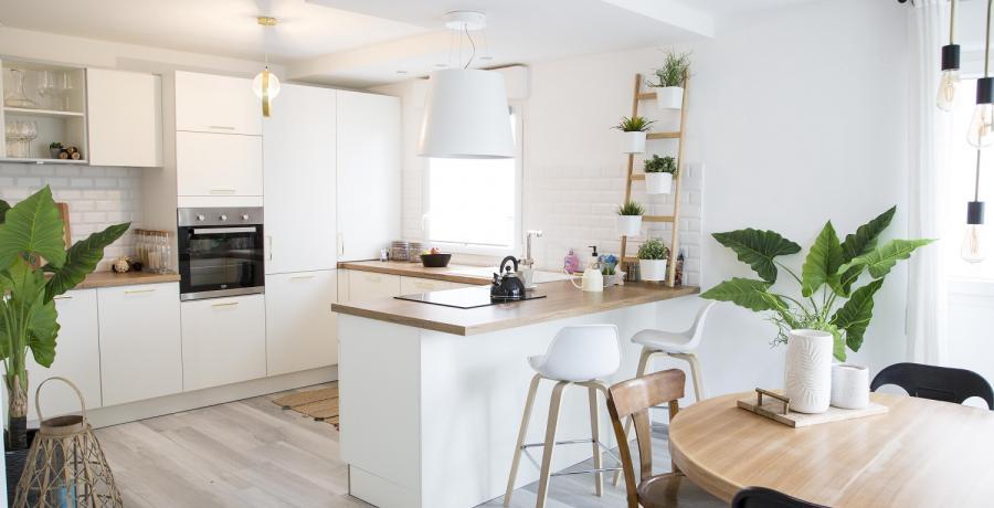 Programme immobilier neuf à Danjoutin : les Carrés Poètes, duplex-jardin cuisine