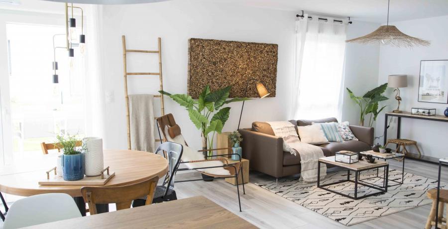 programme immobilier neuf à Habsheim : les carrés Voltige, duplex-jardin chambre pièce de vie