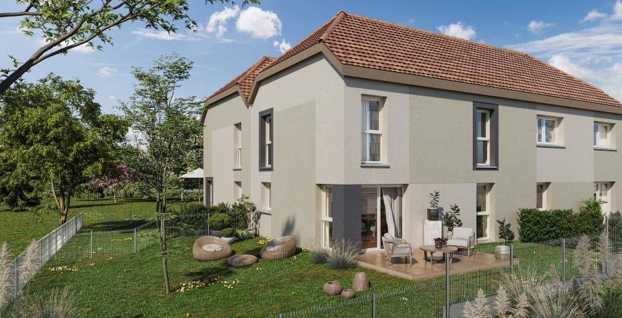 Appartement neuf duplex-jardin à Epfig