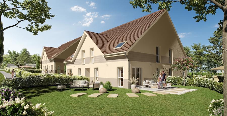 Appartement neuf Duplex-Jardin à Sombacour