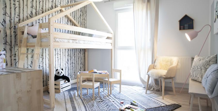 Programme immobilier neuf à Sombacour : les Carrés du Tacot, duplex-jardin chambre enfant