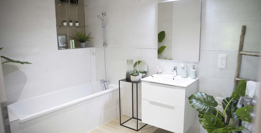 Programme immobilier neuf à Sombacour : les Carrés du Tacot, duplex-jardin salle de bain