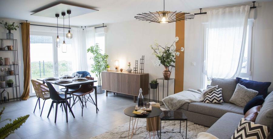 programme immobilier neuf à epfig : les carrés Kipéti, duplex-jardin salon