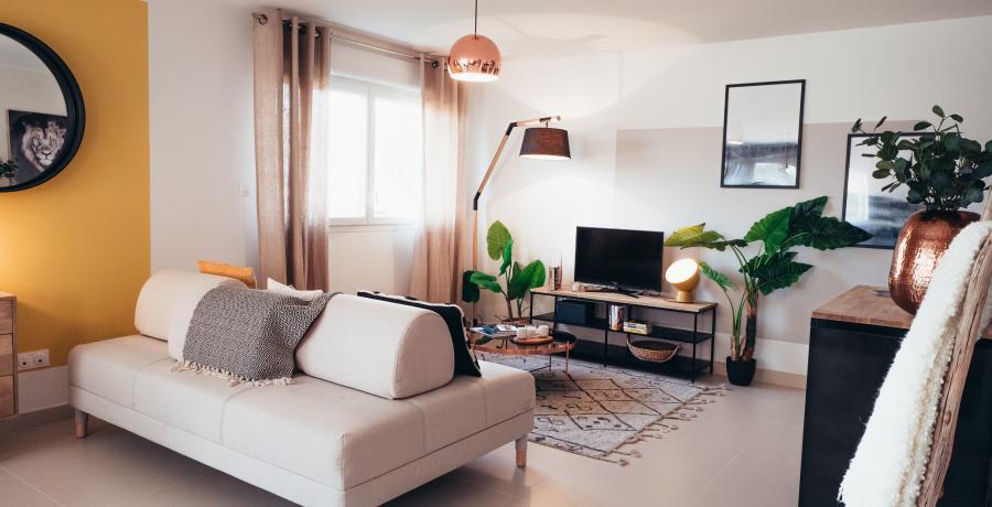 appartement duplex témoin Besançon - pièce de vie