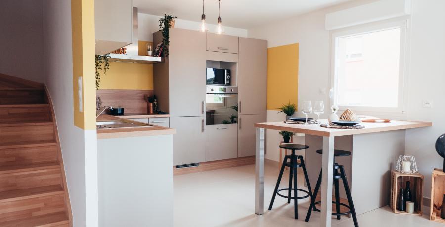 appartement duplex témoin Besançon - cuisine