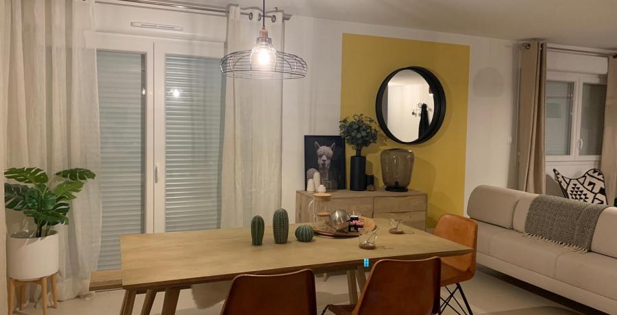Programme immobilier neuf à Devecey : les Carrés du Clos des Chênes, duplex-jardin salle à manger