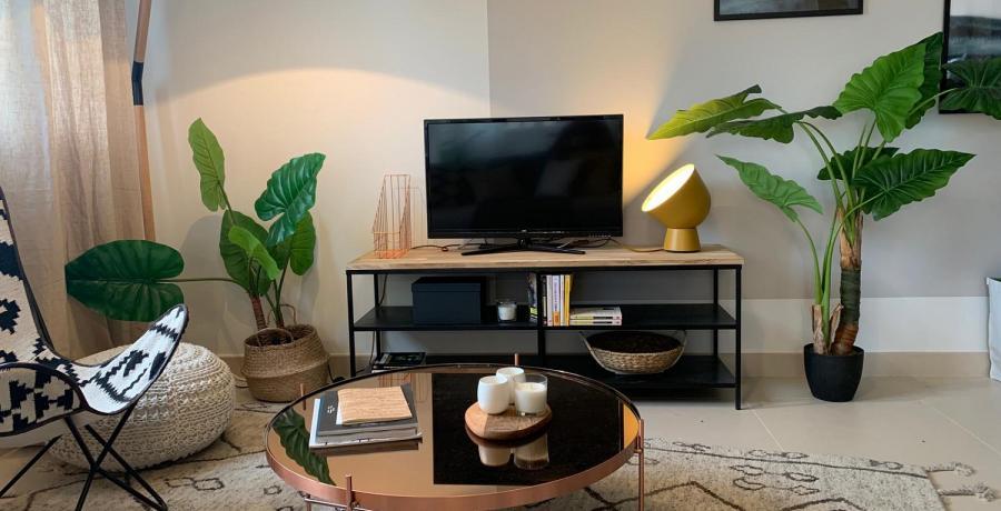 Programme immobilier neuf à Devecey : les Carrés du Clos des Chênes, duplex-jardin salon