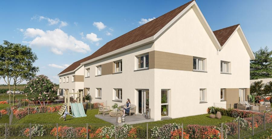 Appartement neuf Duplex-Jardin à Boussières