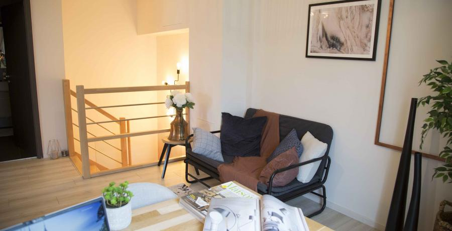 programme immobilier neuf à krautergersheim : les carrés cécile, duplex-jardin bureau