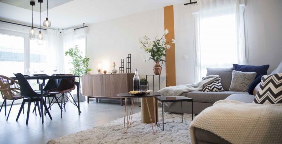 programme immobilier neuf à krautergersheim : les carrés cécile, duplex-jardin salon