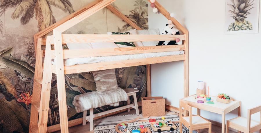 Programme immobilier neuf à Boussières : les Carrés des Vignes, duplex-jardin chambre enfant