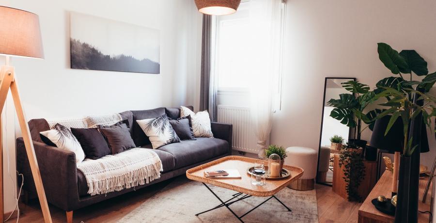 Programme immobilier neuf à Boussières : les Carrés des Vignes, duplex-jardin  salon